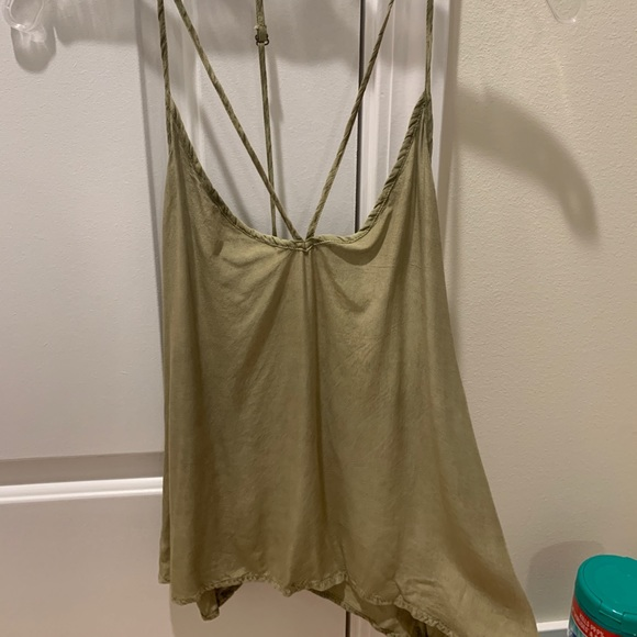 Mustard Seed Tops - Dressy tank! Criss cross straps in the back.